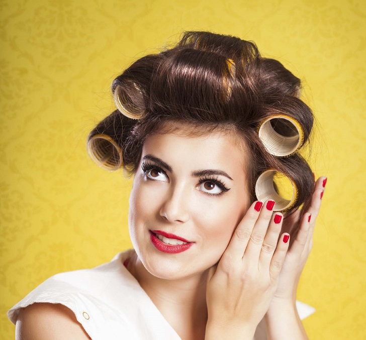 use hair rollers