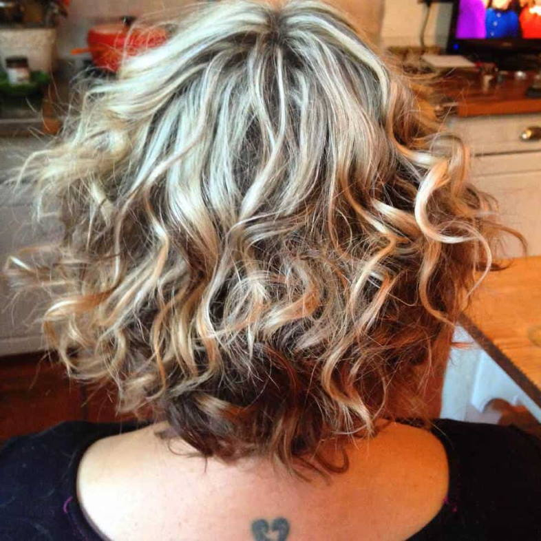 curl choppy layered hair